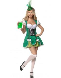 Damen Dirndl Oktoberfest Kostüm Grün
