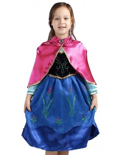 Winter Kinder Frozen Anna Kleid Mit Umhang