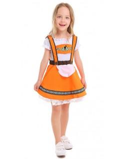 Landmädchen Oktoberfest Kostüm für Kinder Trachtenhemd