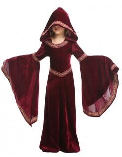 Halloween Vampir Kostüm Kinder Mittelalterliches Kostüm Kapuzenrobe Rot