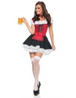Oktoberfest Kleidung Damen Rot Weiß