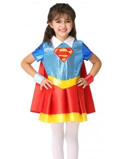 Mädchen Supergirl Kostüm Kinder Superhelden Kostüme