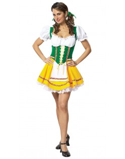 Bayerisches Heidi Kleid Oktoberfest Kleidung Grün